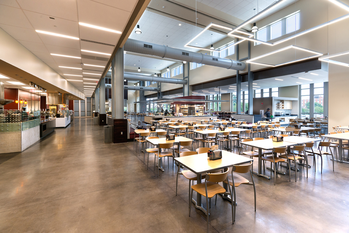 Fresh food company dining facility mississippi state for Latest dining hall designs
