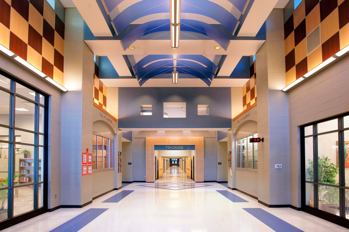 Germantown middle school jh h architects for Interior design schools in mississippi